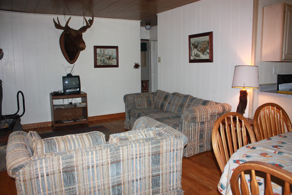 Wild Turkey Riverfront Cabins - Living Room