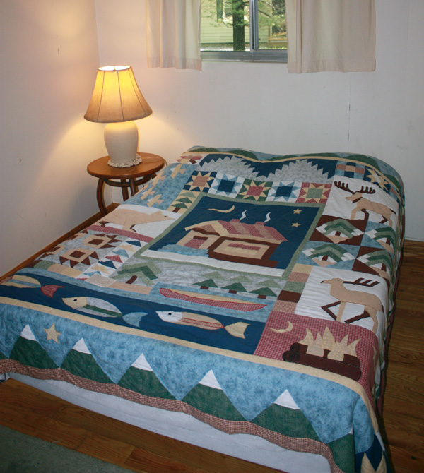 Wild Turkey Riverfront Cabins - Bedroom #2 with Double Bed
